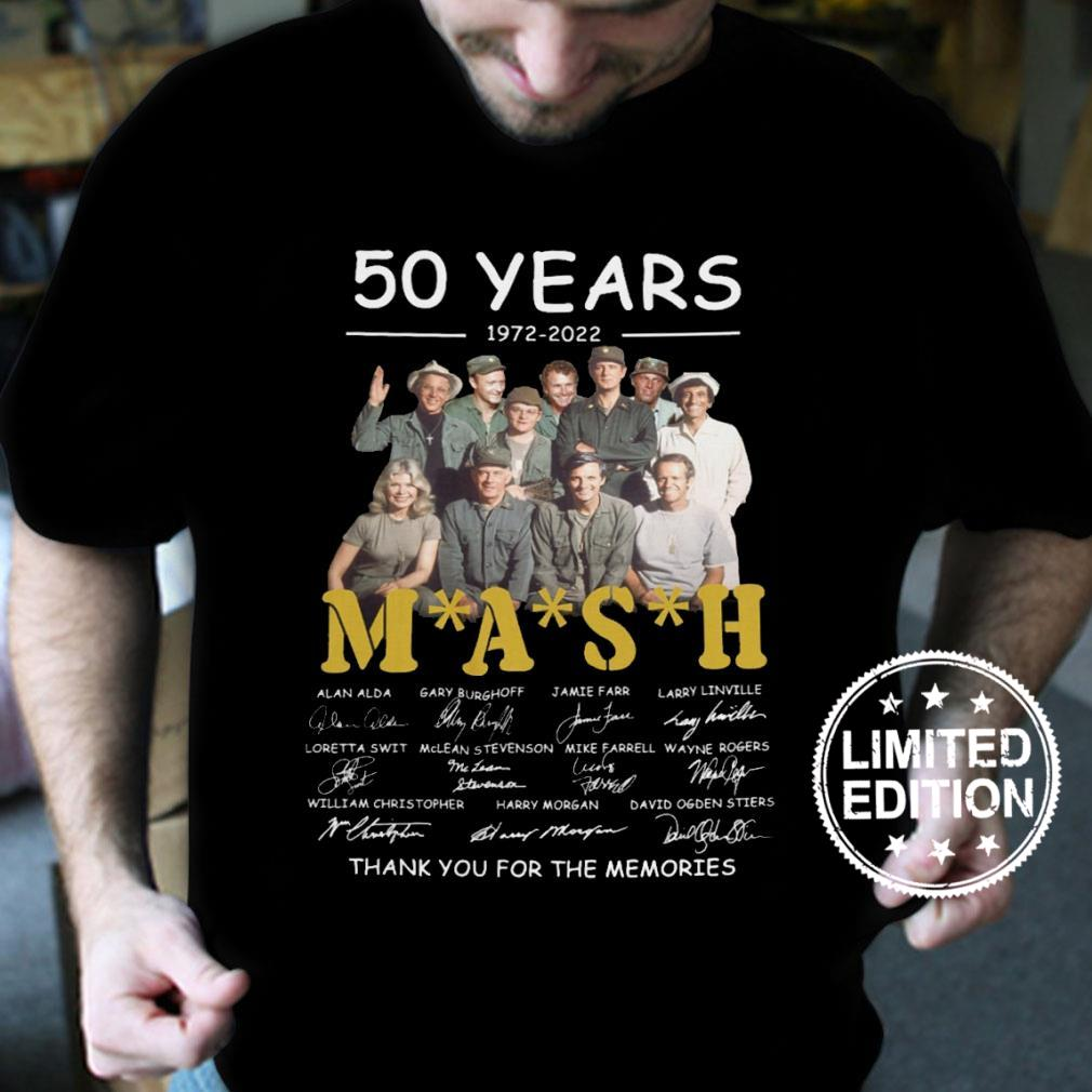 50 years 1972 2022 mash thank you for the memories shirt