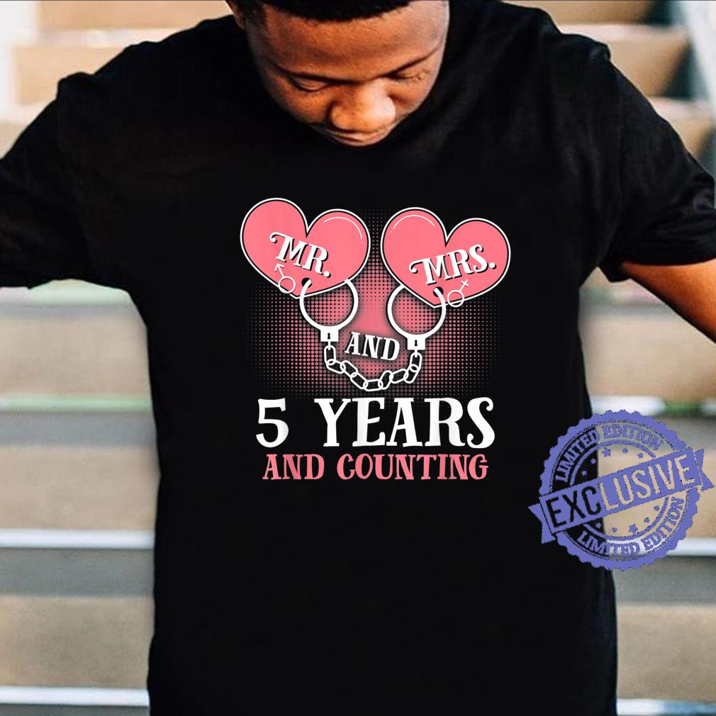 5th Wedding Anniversary Couples Wife Husband Shirt