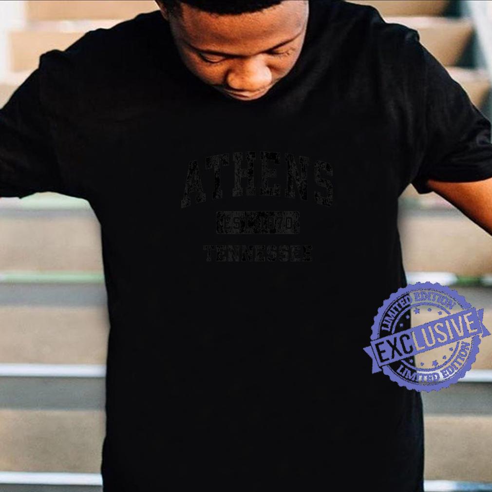 Athens Tennessee TN Vintage Sports Design Black Design Shirt