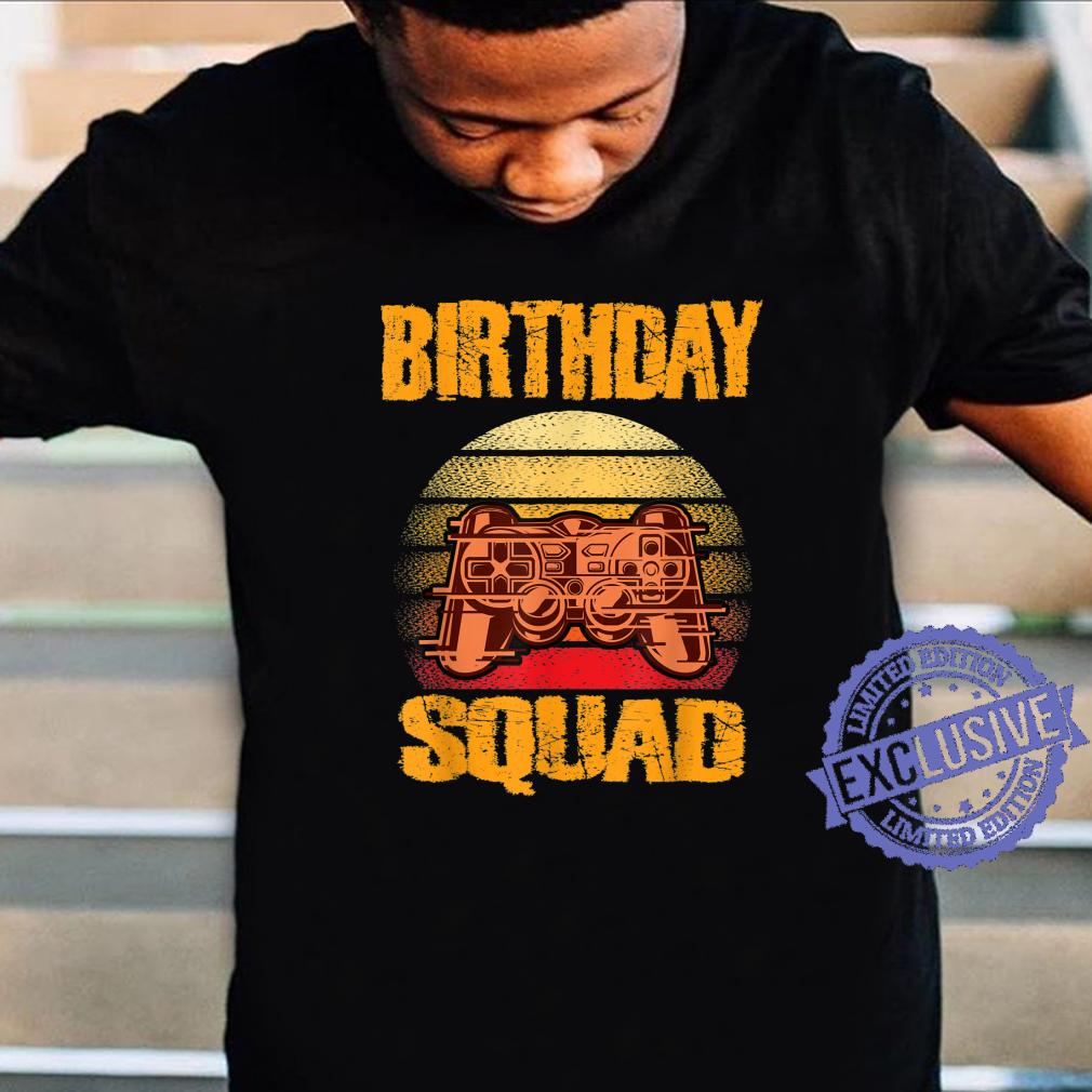 Boys Birthday Squad Gamer Video Games Theme Shirt