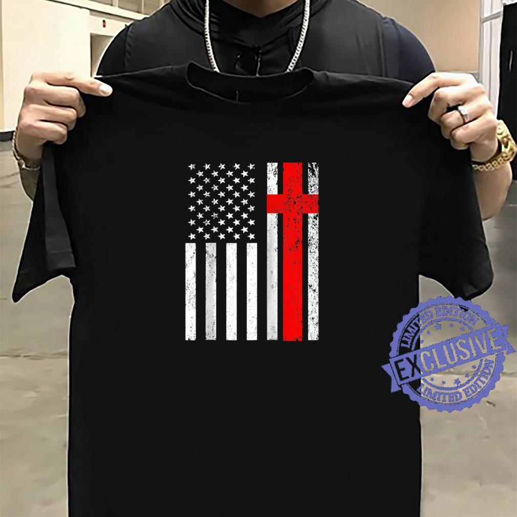 Funny American Flag Cross For USA Christian Shirt sweater