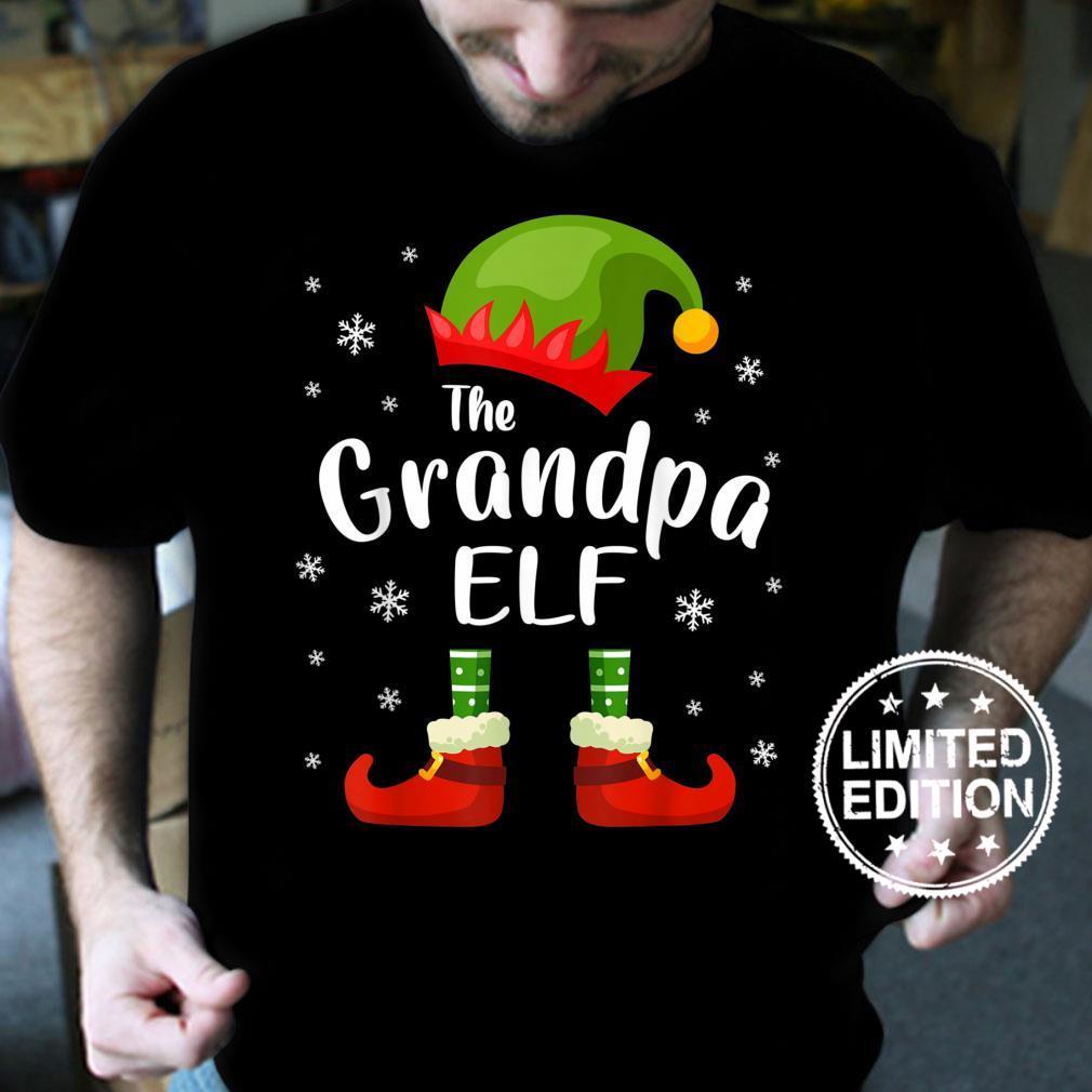 Grandpa Elf Family Matching Group Xmas Christmas Party Shirt