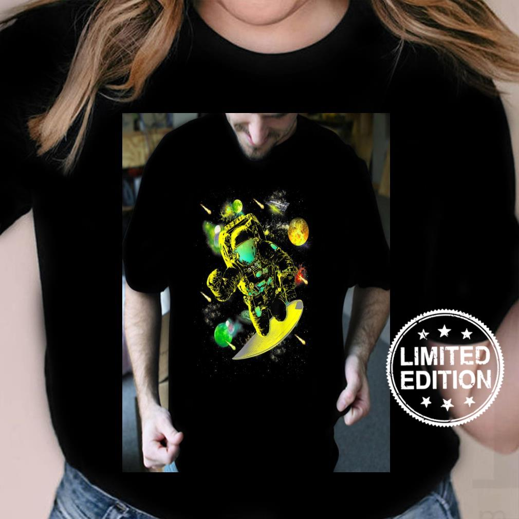 Mens Graphics Space Surfer Cool Designs Space Shirt ladies tee