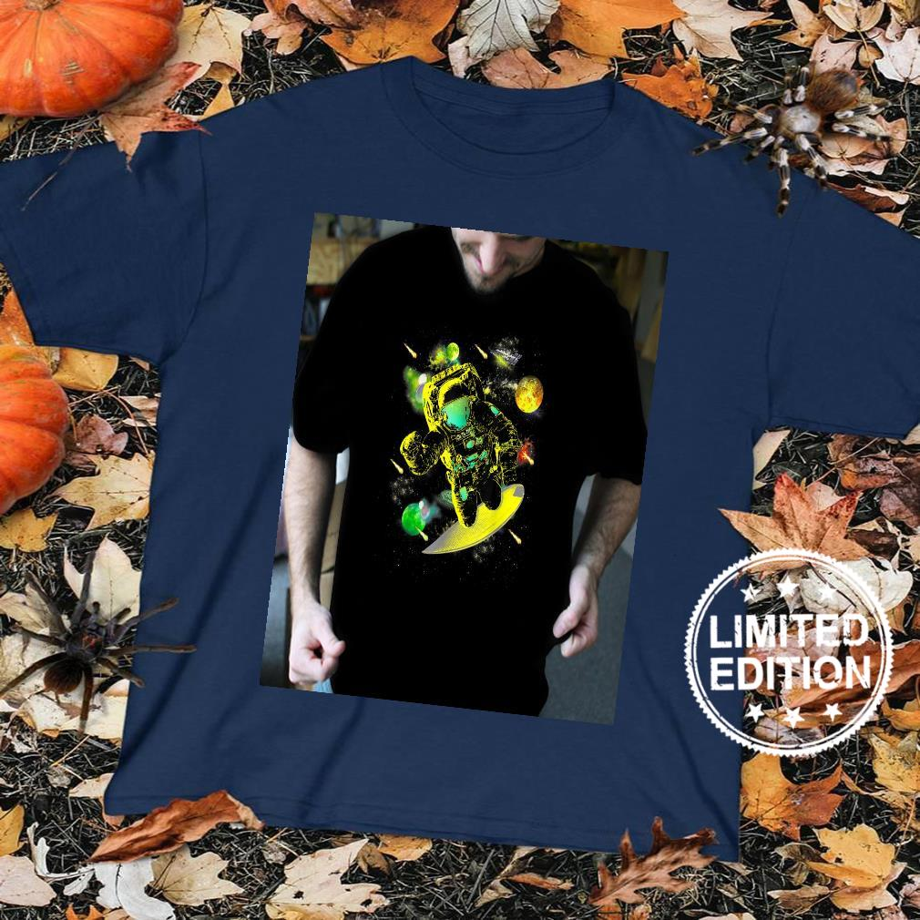 Mens Graphics Space Surfer Cool Designs Space Shirt sweater