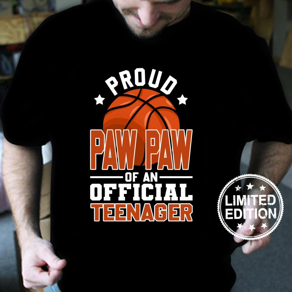Proud Paw Paw of Officialnager 13th Birthday Basketball Shirt