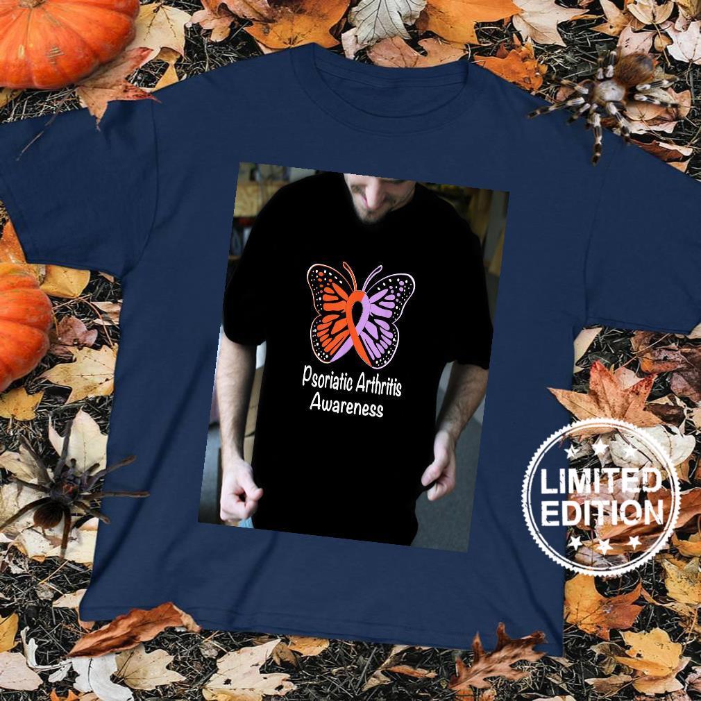 Psoriatic Arthritis Awareness Lavender & Orange Ribbon Shirt sweater