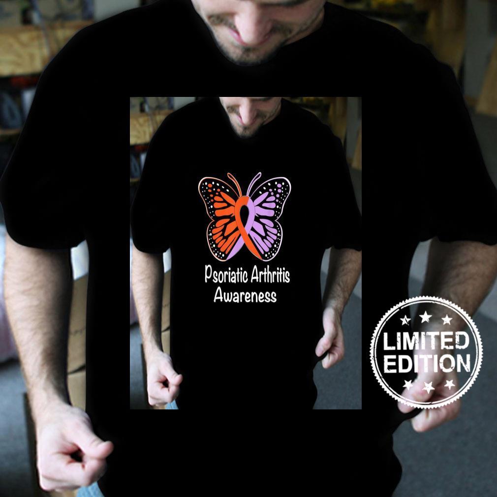 Psoriatic Arthritis Awareness Lavender & Orange Ribbon Shirt