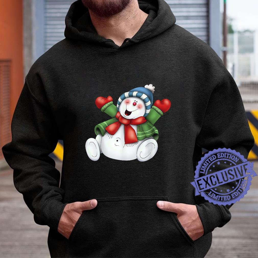 Snowman Cute Frosty Stay Cool Holiday Christmas Winters Here Shirt hoodie