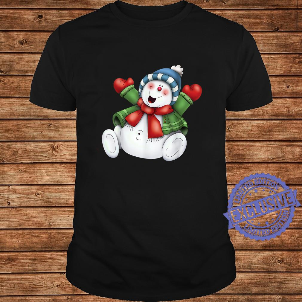 Snowman Cute Frosty Stay Cool Holiday Christmas Winters Here Shirt long sleeved