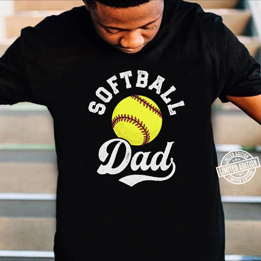 Softball Dad Fathers Day Fastpitch Fastball Ball Sport Shirt