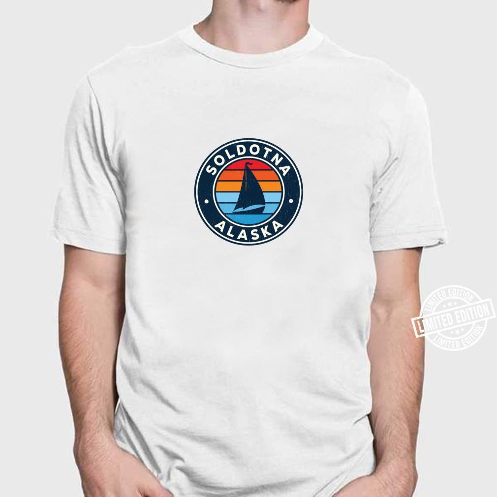 Soldotna Alaska AK Vintage Sailboat Retro 70s Shirt