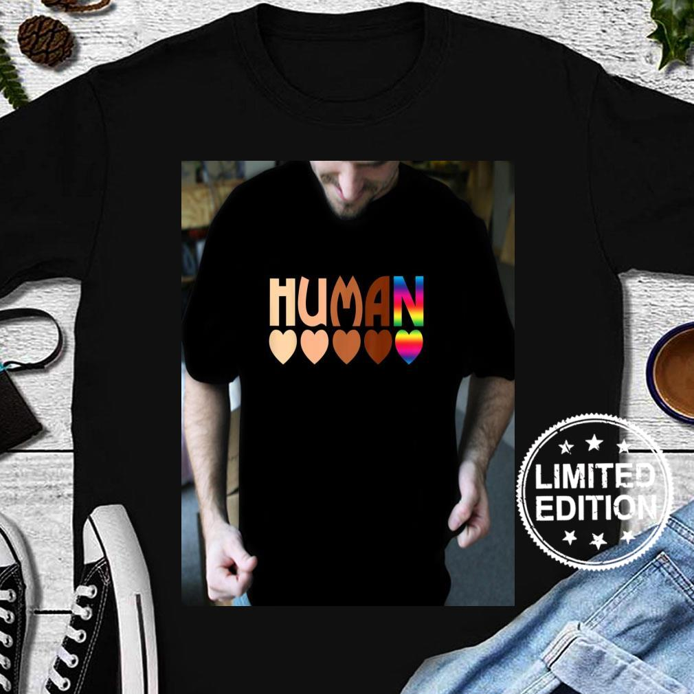 Solidarity Tolerance Human Heart Equality BLM Pride Shirt long sleeved