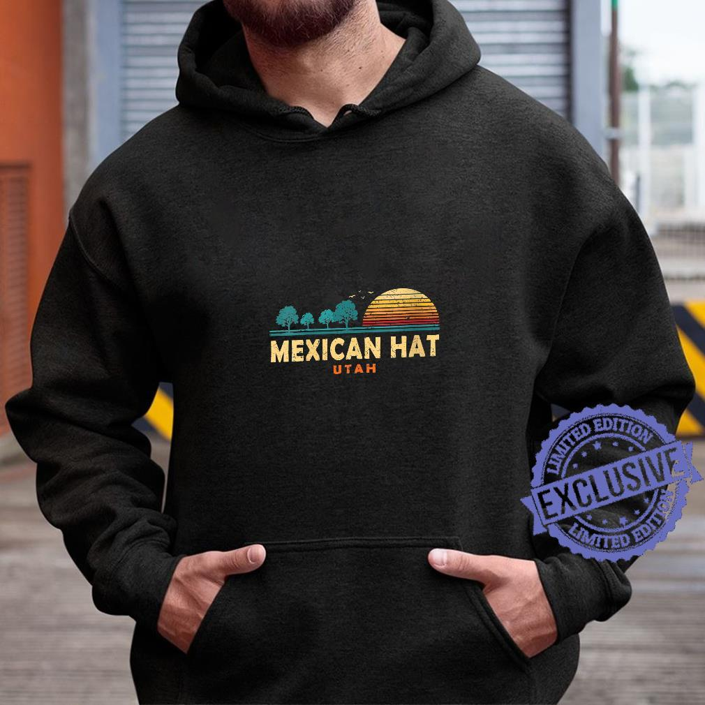 Womens Evergreen Sunset Mexican Hat Forest Utah Woods Nature Shirt hoodie