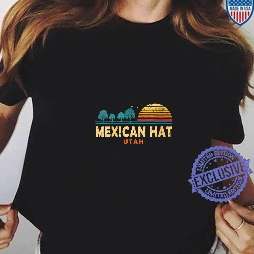 Womens Evergreen Sunset Mexican Hat Forest Utah Woods Nature Shirt ladies tee