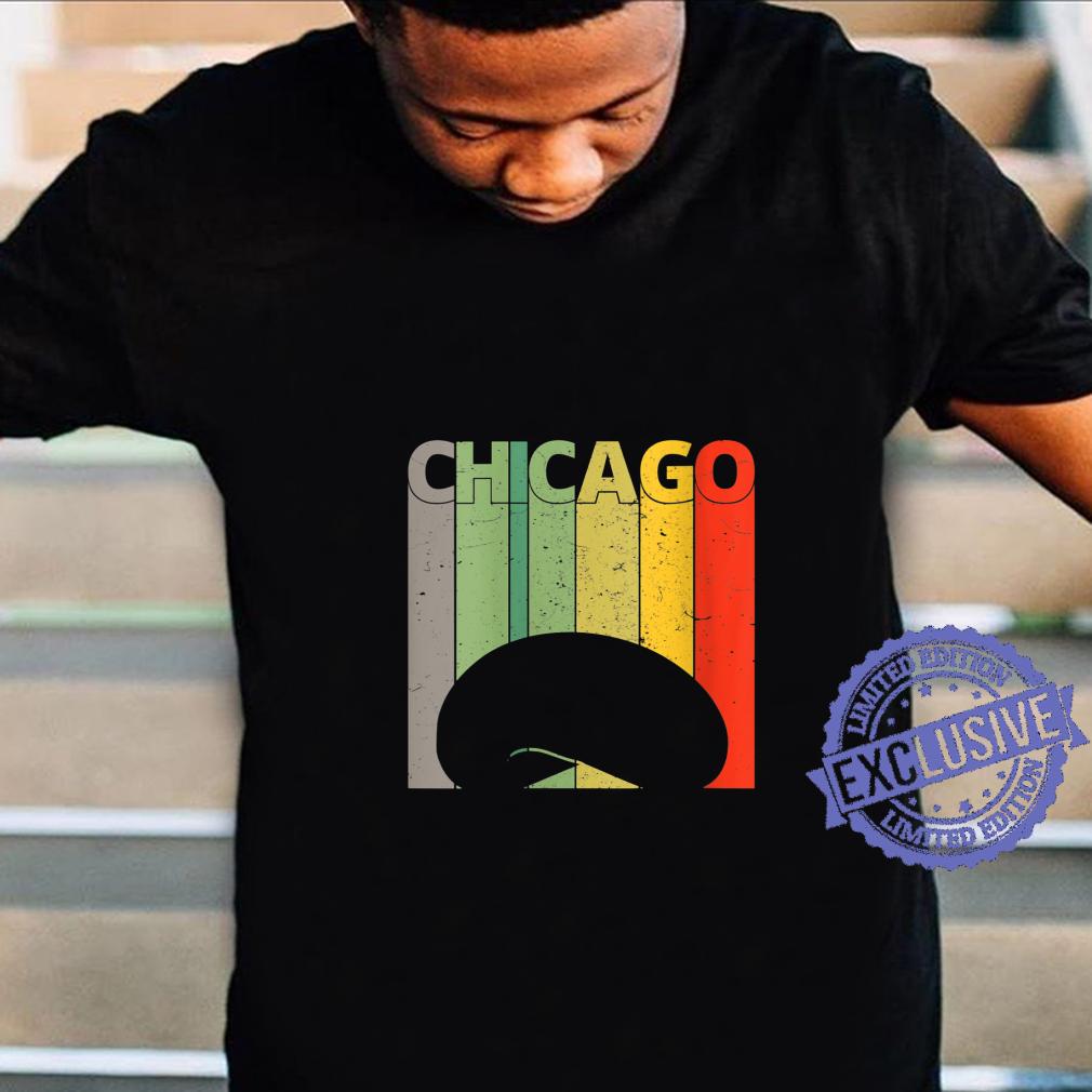 Womens Retro Chicago Vintage Chicago Bean Cloud Gate Shirt