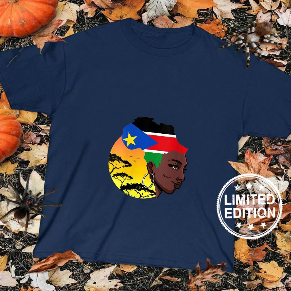 Womens South Sudanese Queen Black History Month South Sudan Flag Shirt sweater