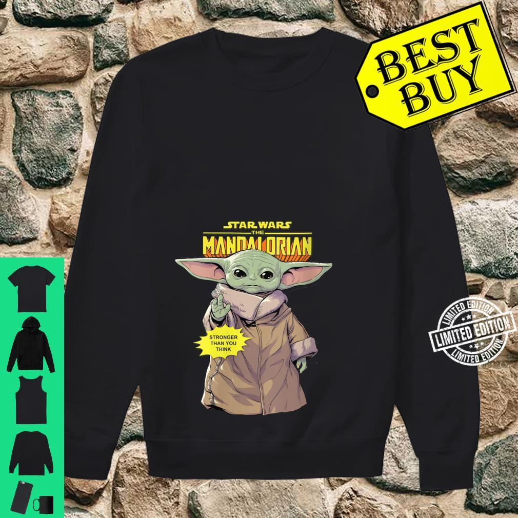 Womens Star Wars The Mandalorian The Child Stronger Than You Think Shirt sweater