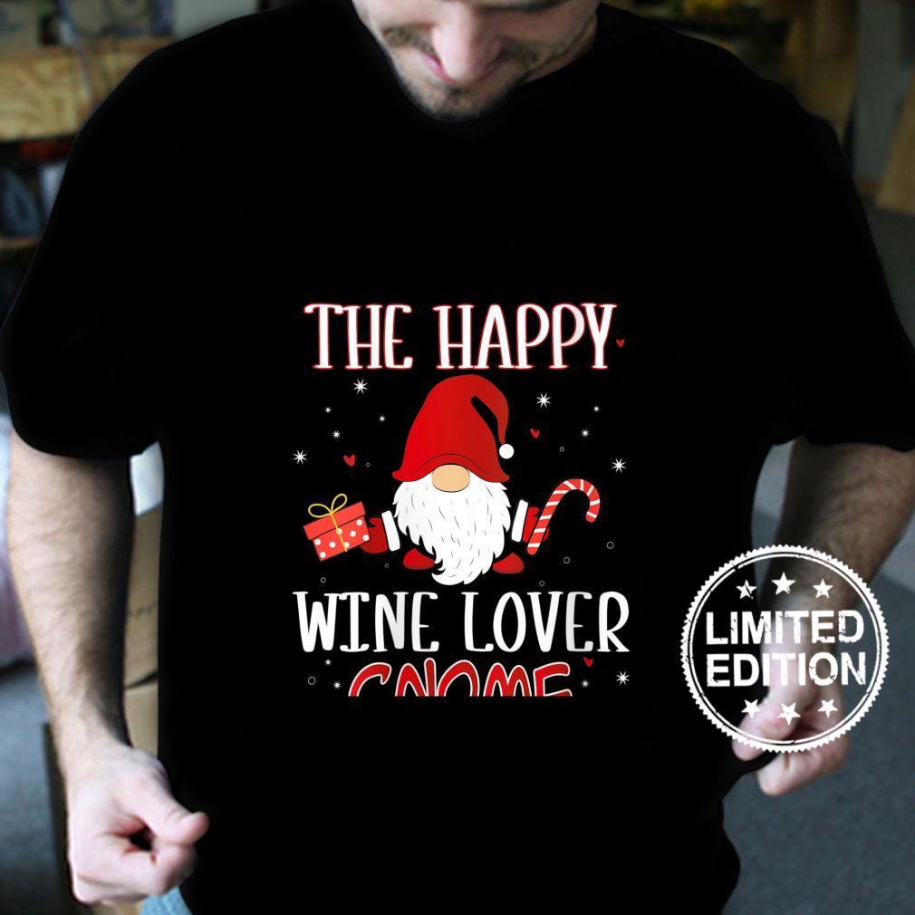 Womens Wine Christmas Gnome Costume Matching Family Shirt
