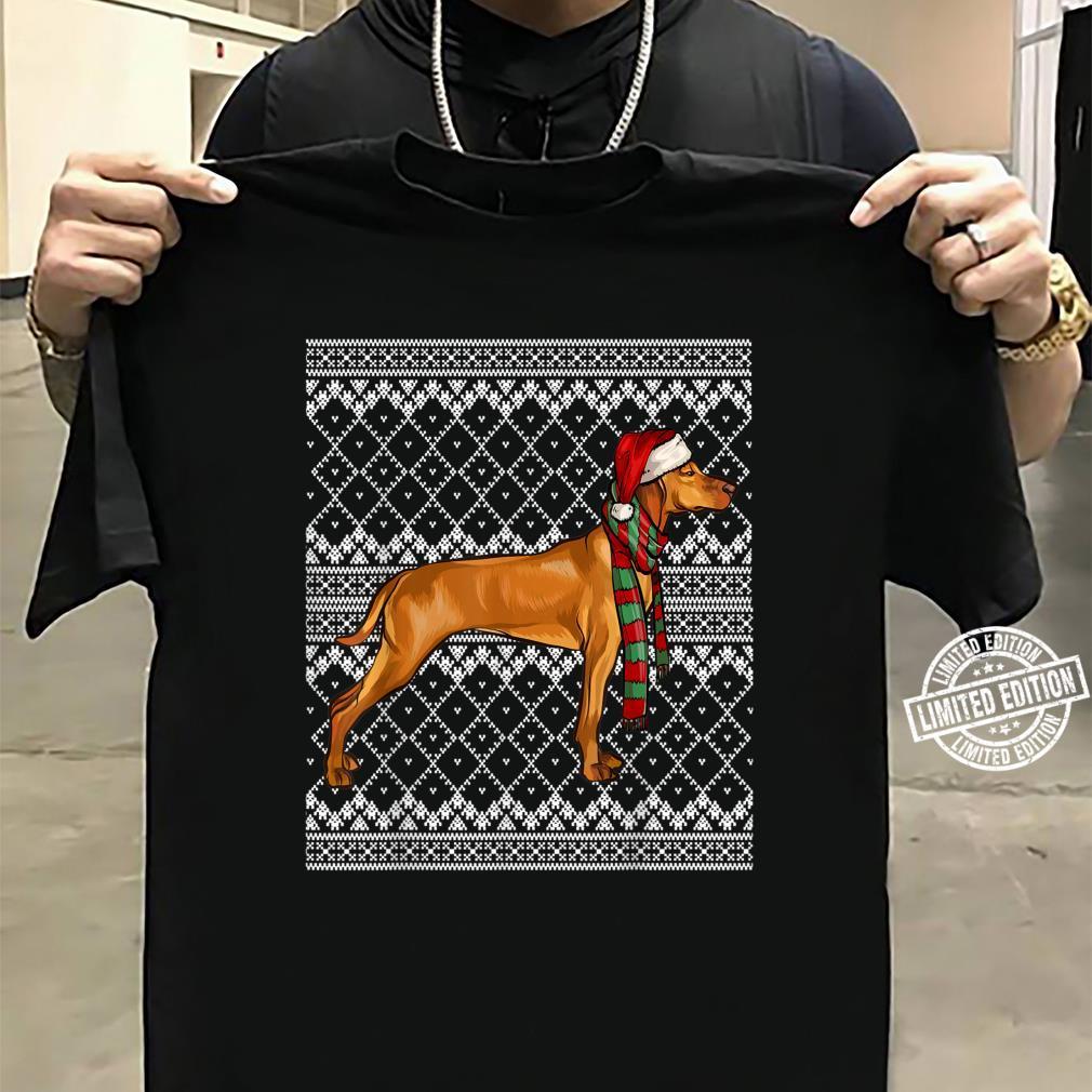 Xmas Vizsla Santa Claus Hat Ugly Christmas Shirt sweater