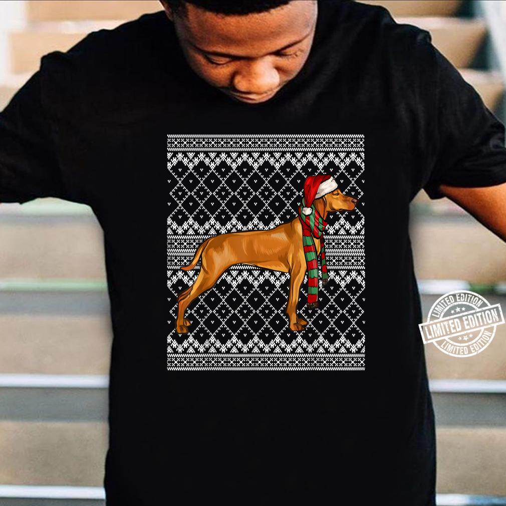 Xmas Vizsla Santa Claus Hat Ugly Christmas Shirt