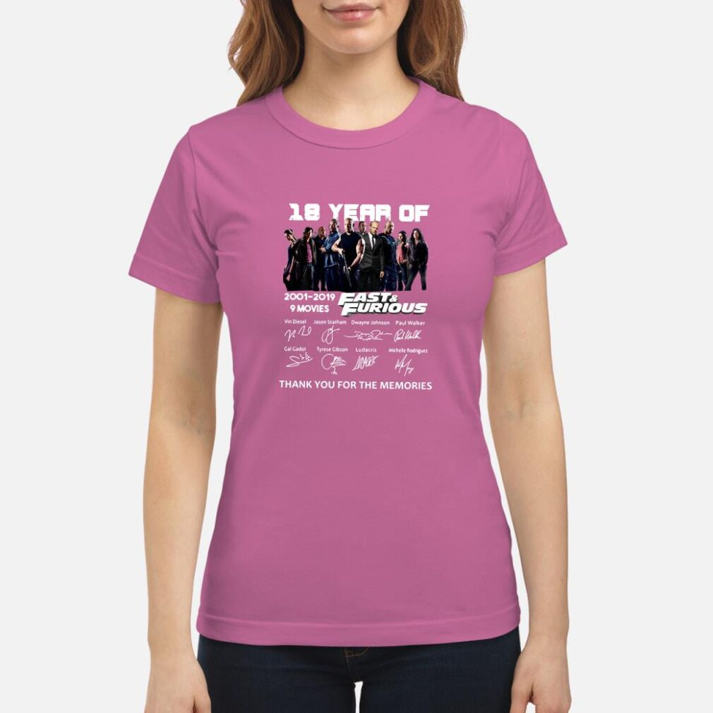 18 year of Fast & Furious anniversary shirt ladies tee