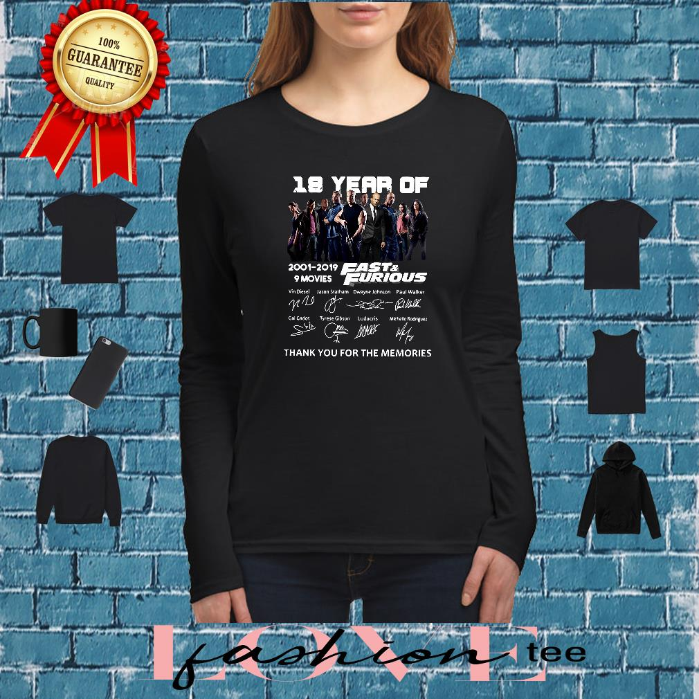 18 year of Fast & Furious anniversary shirt long sleeved