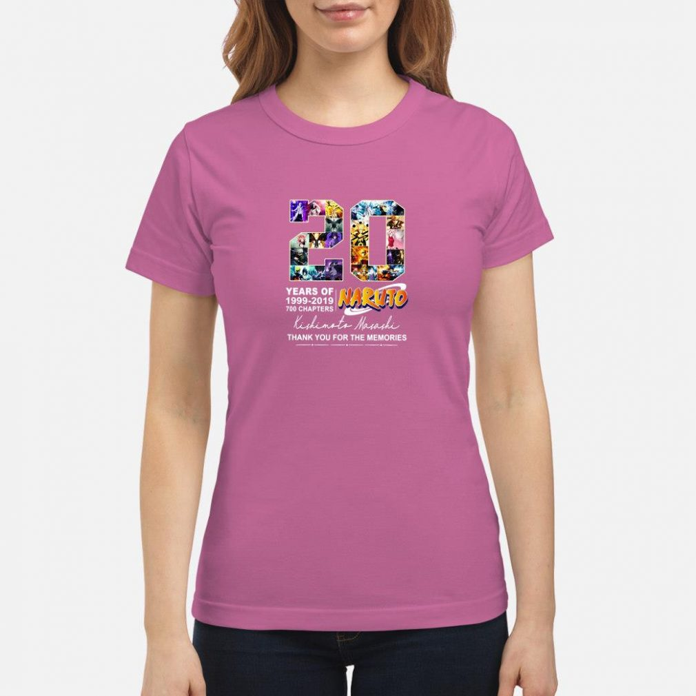 20 years of Naruto 1999 2019 700 chapters shirt ladies tee