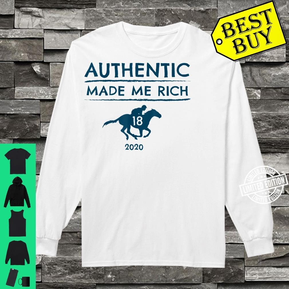 2020 Derby Race Winner Authentic Horse Racing Shirt long sleeved