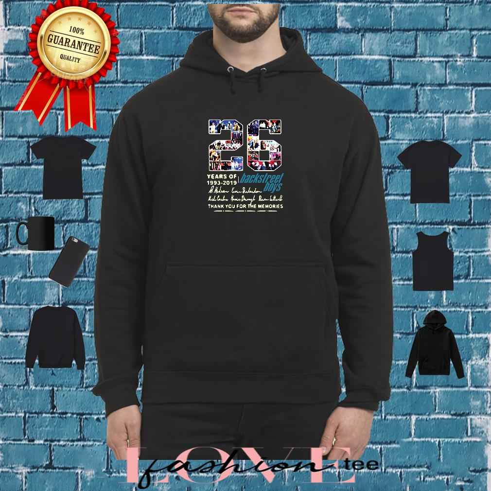 26 years of 1993-2019 Backstreet Boys thank you for the memories shirt hoodie