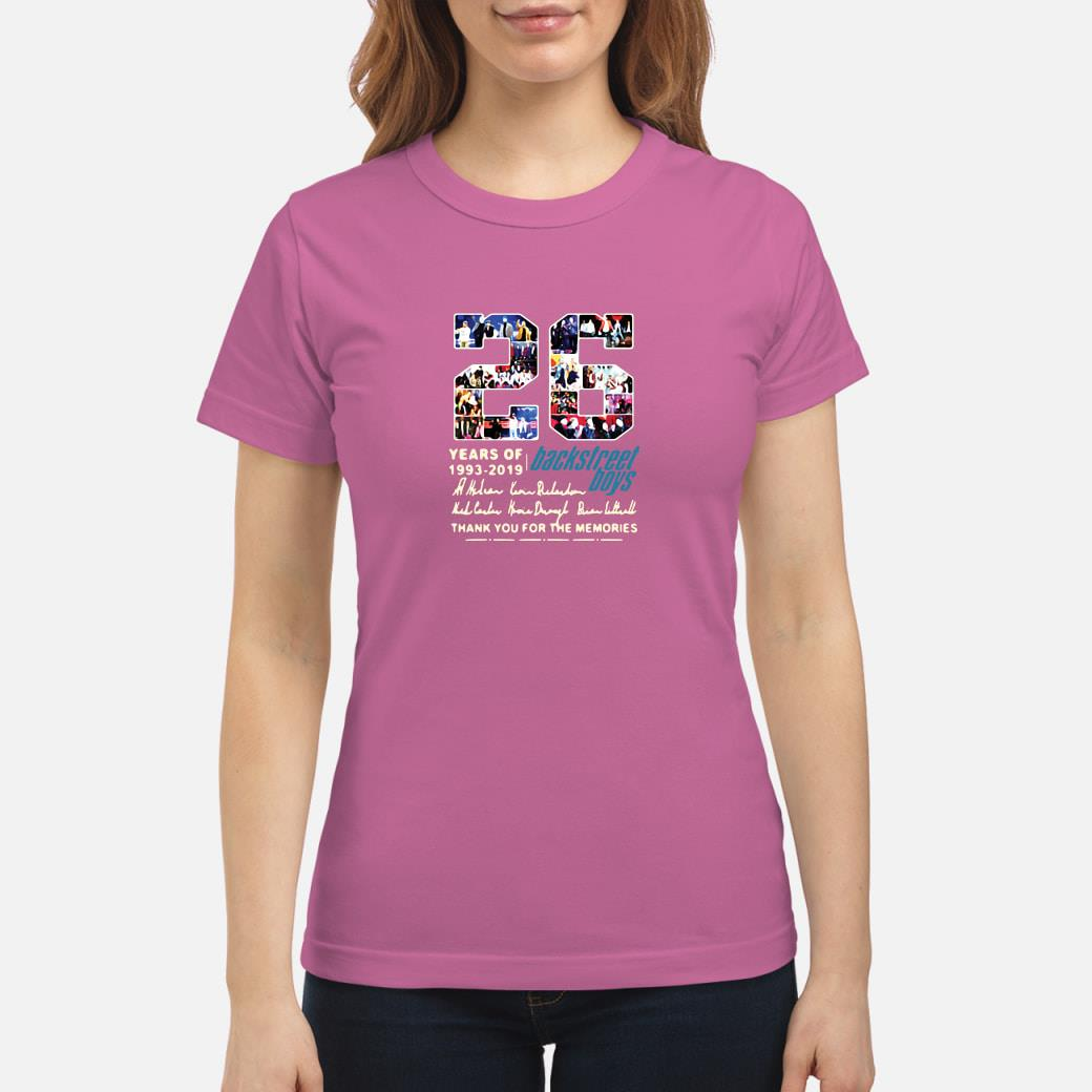 26 years of 1993-2019 Backstreet Boys thank you for the memories shirt ladies tee