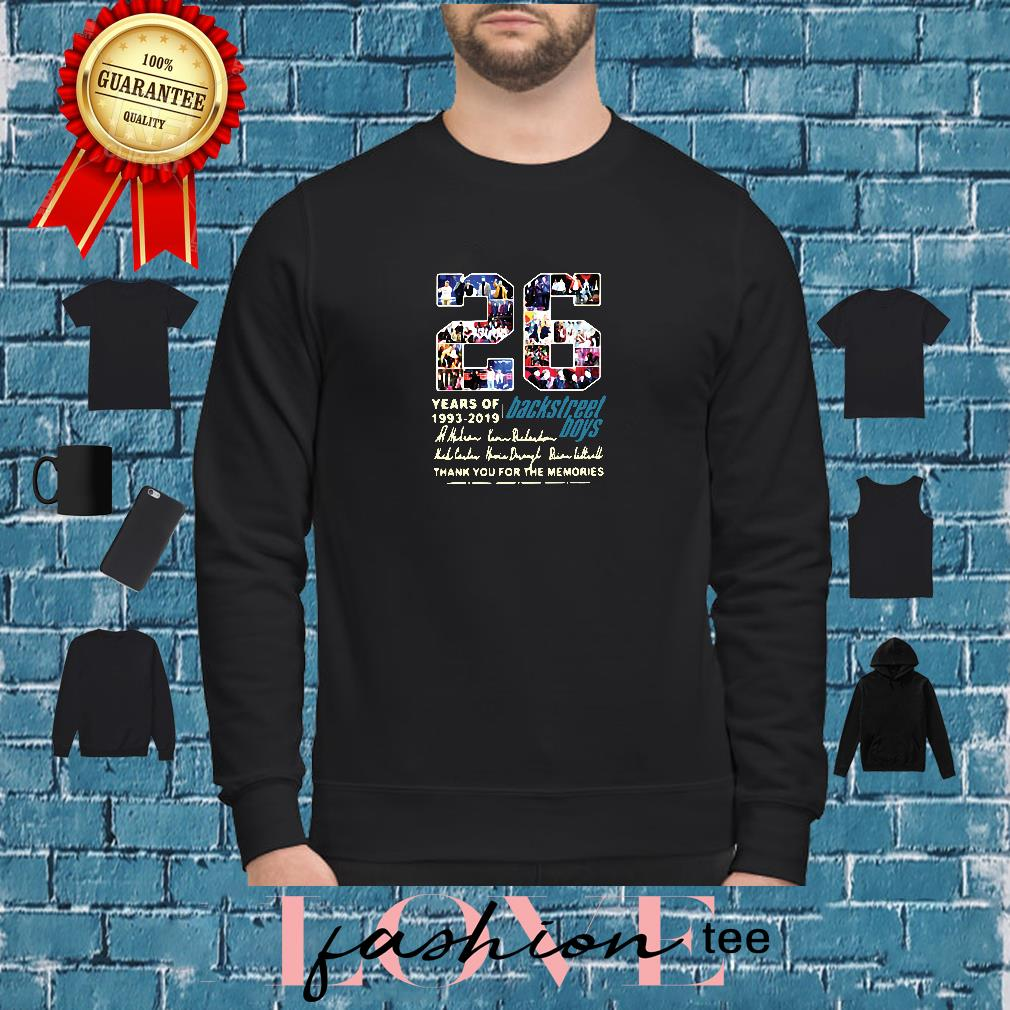 26 years of 1993-2019 Backstreet Boys thank you for the memories shirt sweater