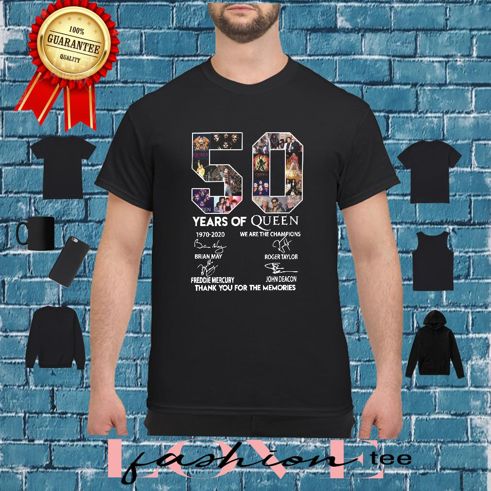 50 year of Queen we are the thank you for the Memories shirt
