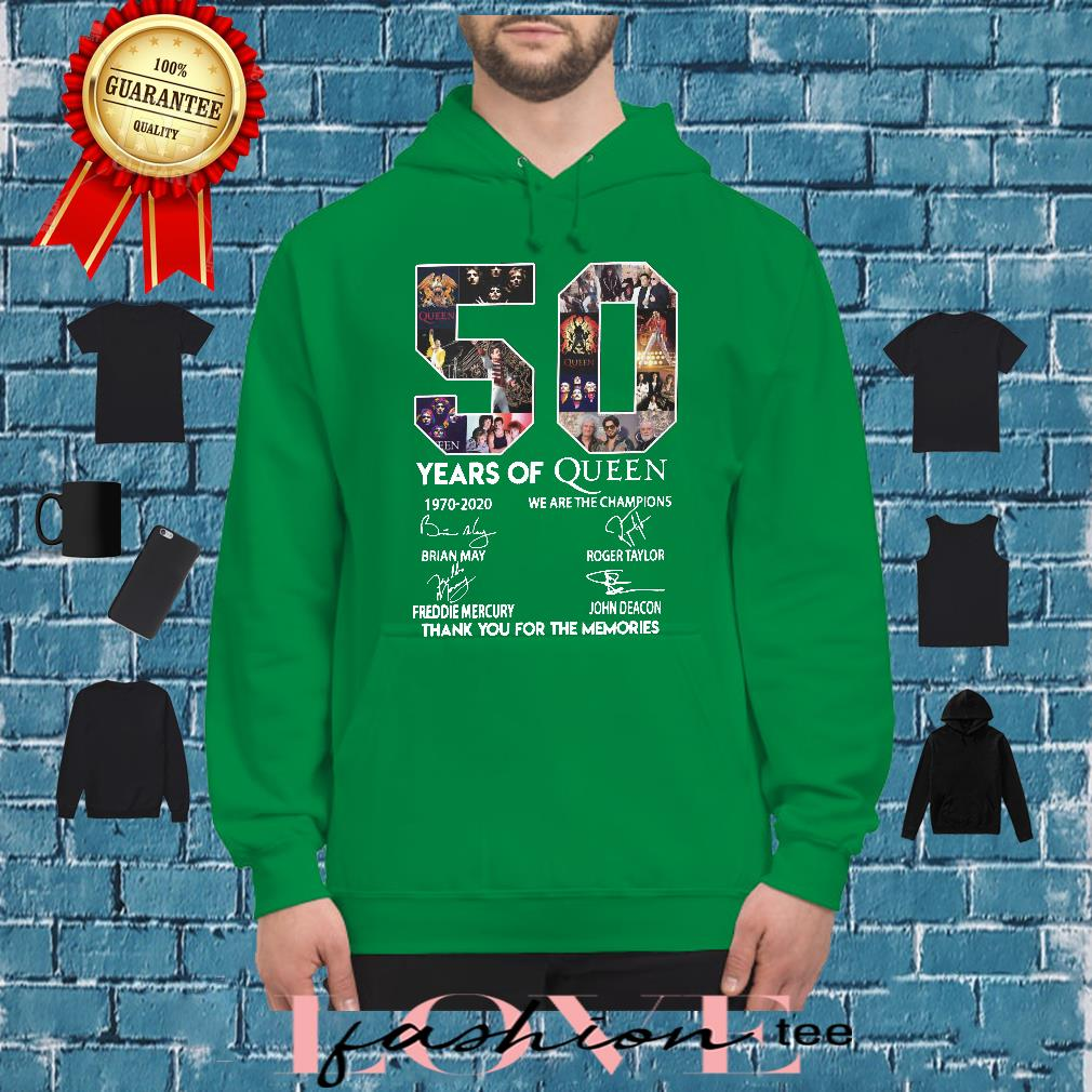 50 year of Queen we are the thank you for the Memories shirt hoodie