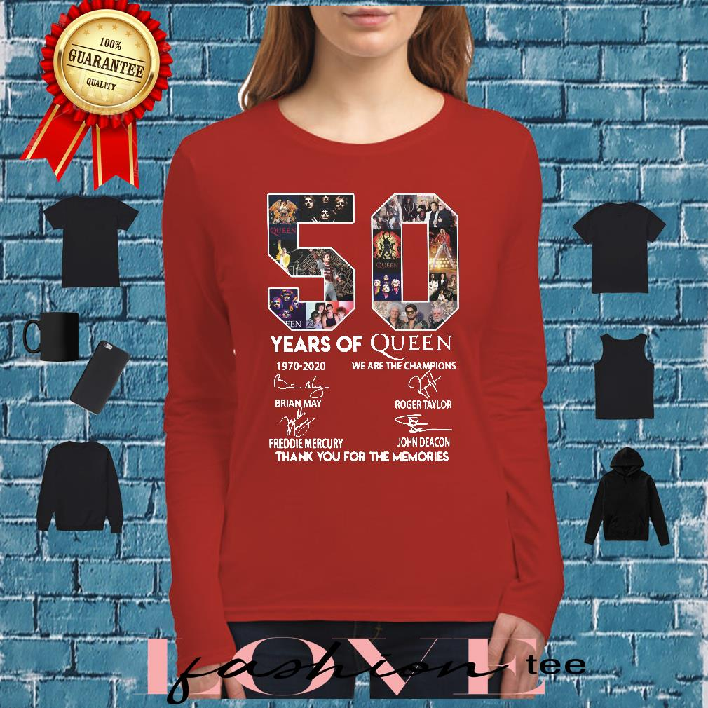 50 year of Queen we are the thank you for the Memories shirt long sleeved