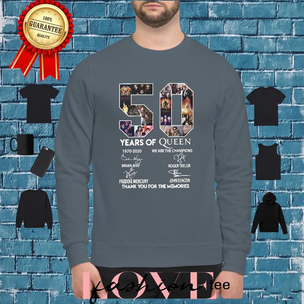 50 year of Queen we are the thank you for the Memories shirt sweater