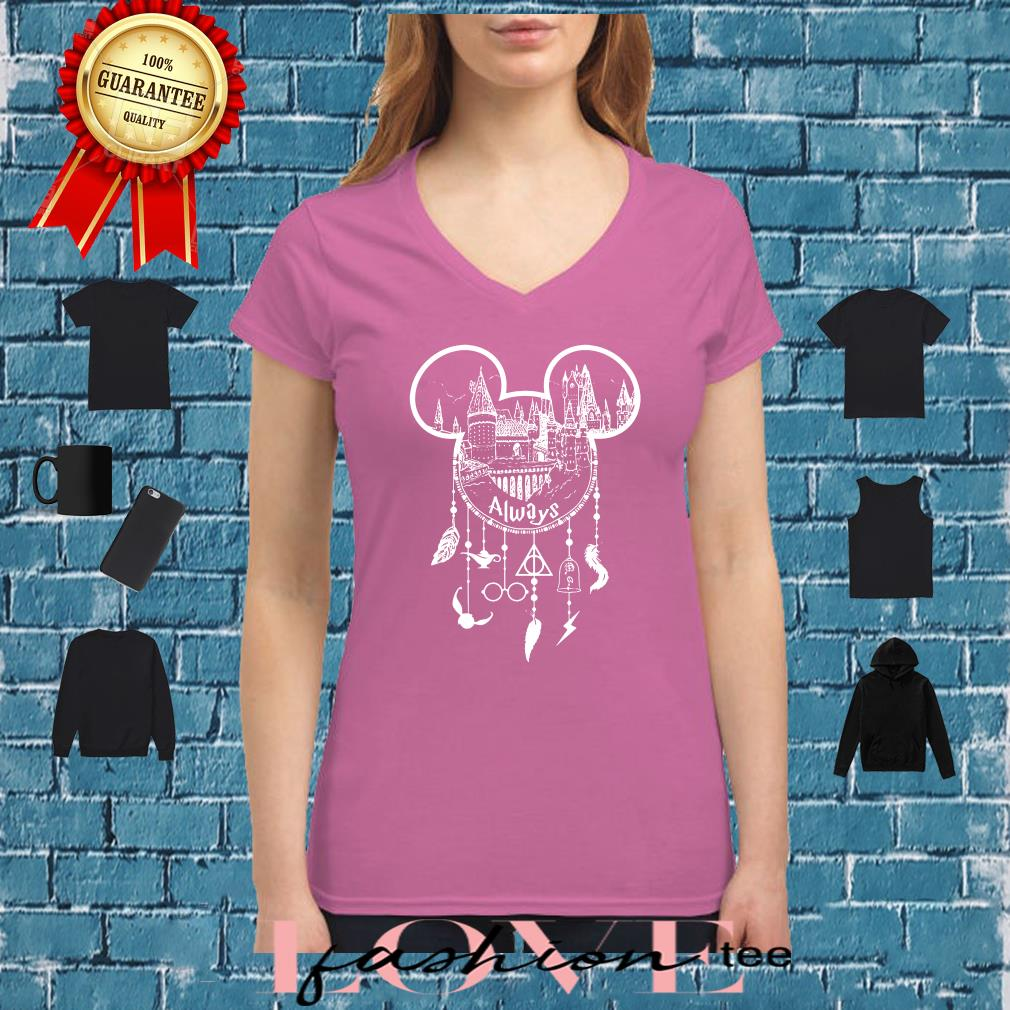Always Mickey head Harry Potter Hogwarts dreamcatcher all disney shirt ladies tee