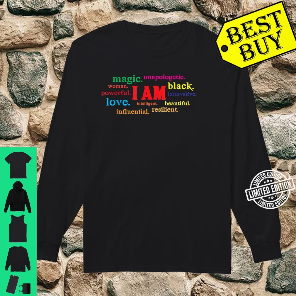 Colorful I Am Powerful Unapologetic Beautiful Black Shirt long sleeved