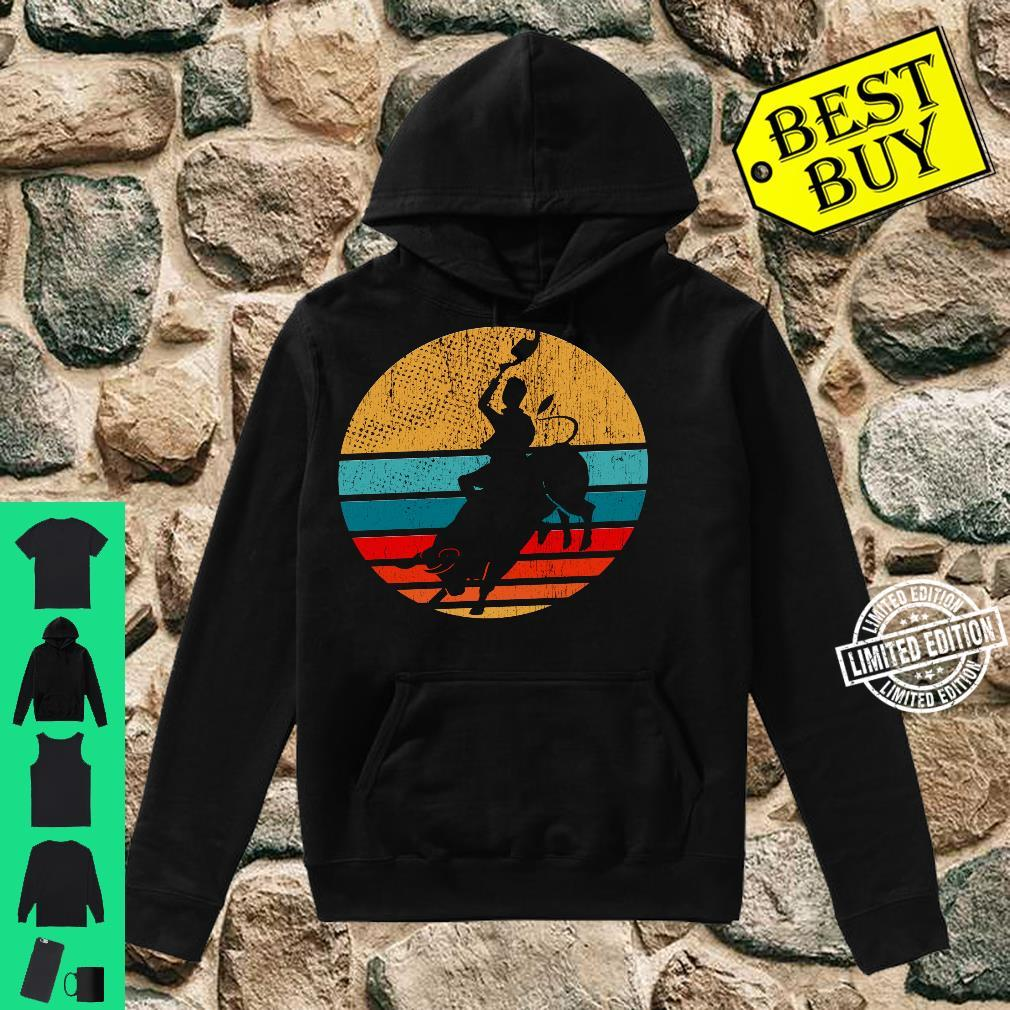 Cowboy Bull Riding Retro Vintage Rodeo Western Country Shirt hoodie