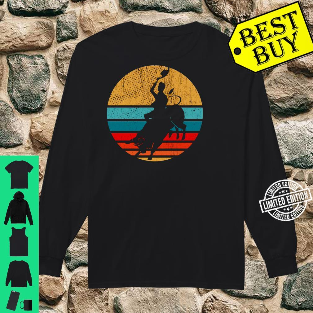 Cowboy Bull Riding Retro Vintage Rodeo Western Country Shirt long sleeved