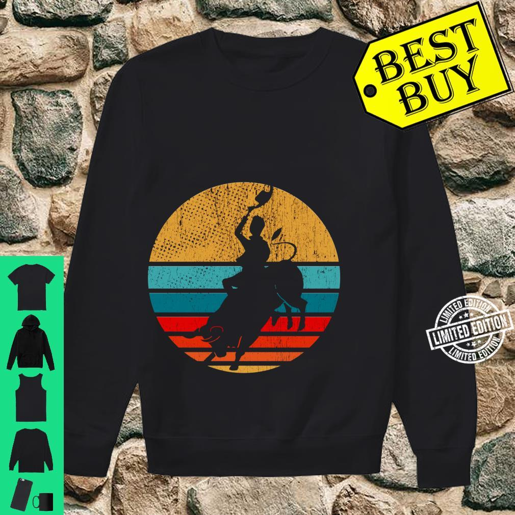 Cowboy Bull Riding Retro Vintage Rodeo Western Country Shirt sweater