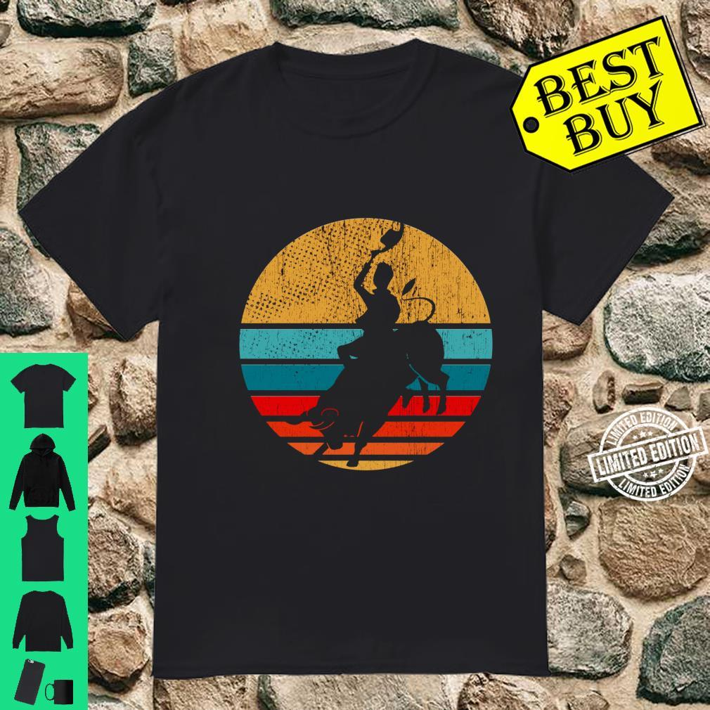 Cowboy Bull Riding Retro Vintage Rodeo Western Country Shirt