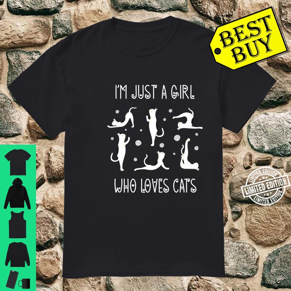 Funny Yoga Cat I'm Just A Girl Who Loves Cats Shirt