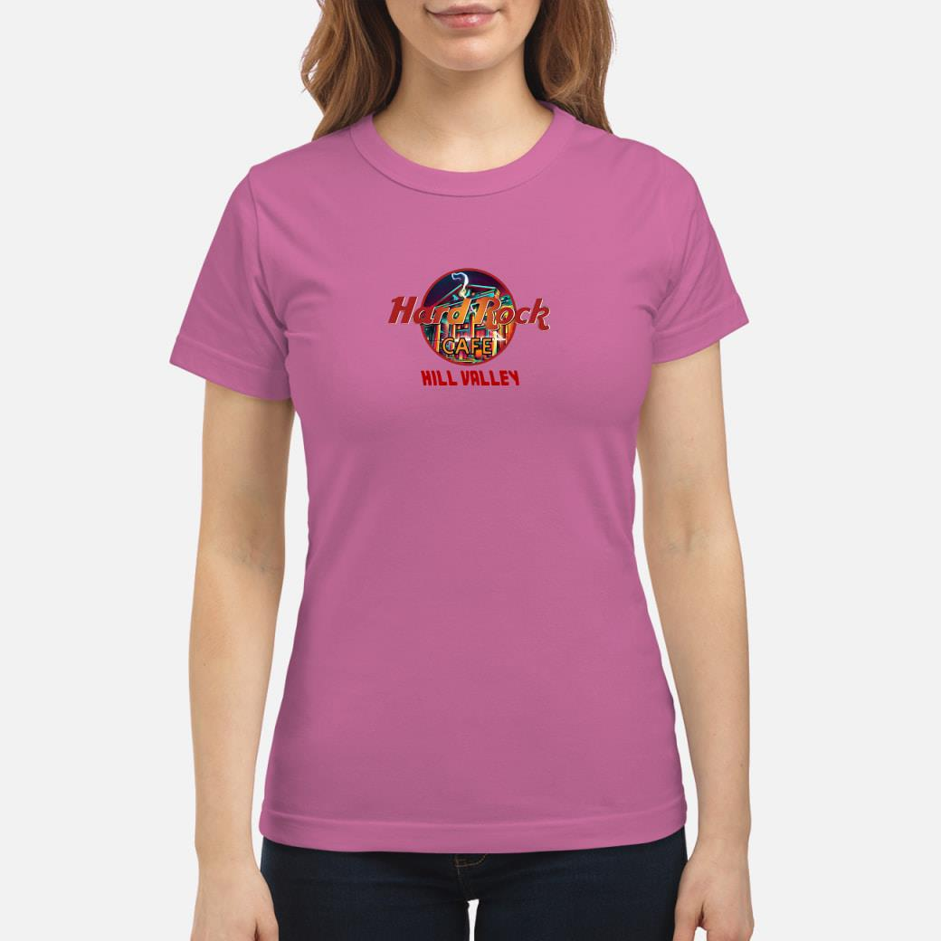 Hard Rock cafe hill valley shirt ladies tee