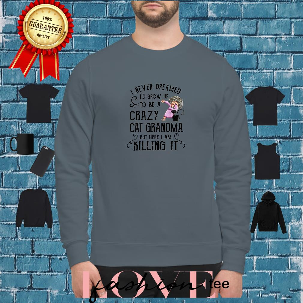 I never dreamed I'd grow up to be a crazy cat grandma but here I am killing it shirt sweater