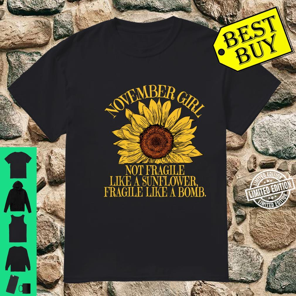 November Sunflower Birthday Idea for Shirt