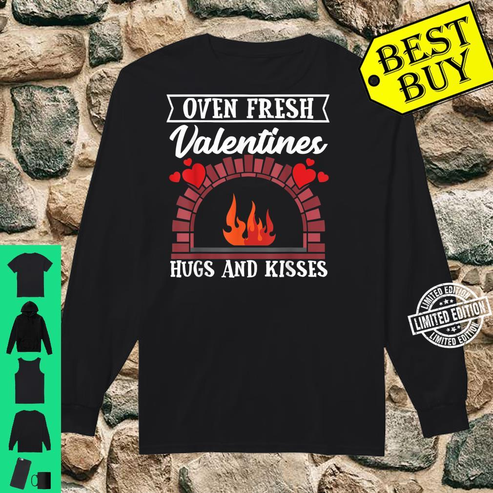 Oven Fresh Valentines Hugs and Kisses Valentines Day Shirt long sleeved