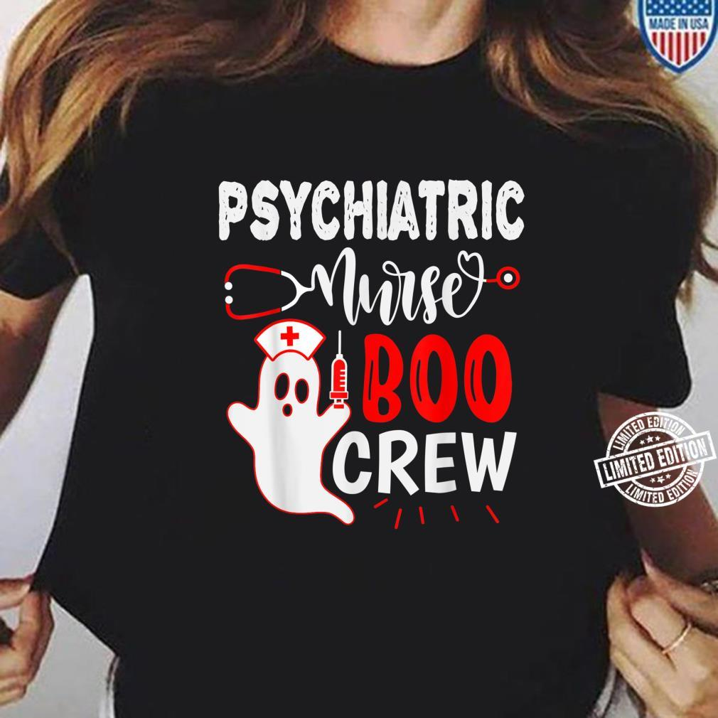 Psychiatric Nurse Halloween, Nursing Ghost Halloween Shirt ladies tee