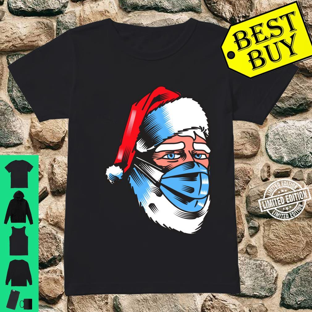 Safe Christmas Wear Mask Campaign Santa In Mask Shirt ladies tee