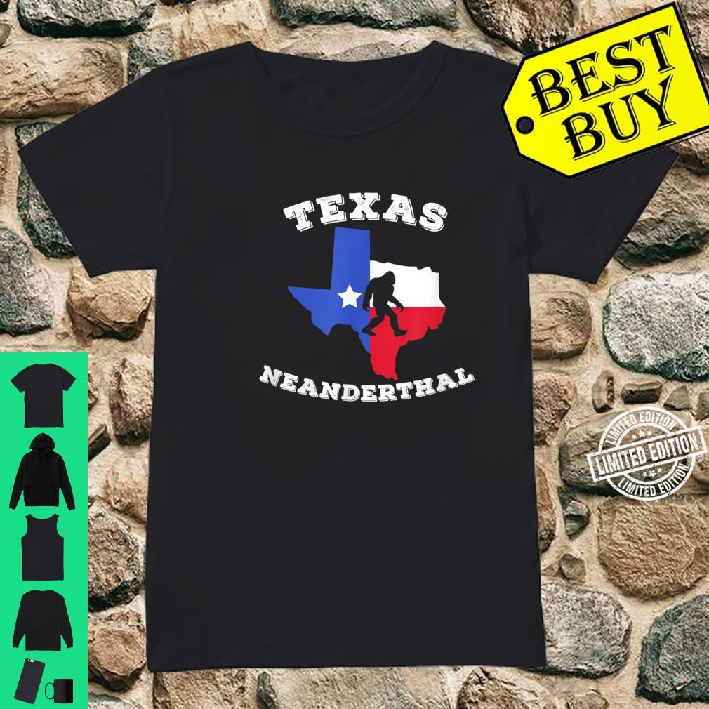 Texas Neanderthal Thinking Texan Political Shirt ladies tee