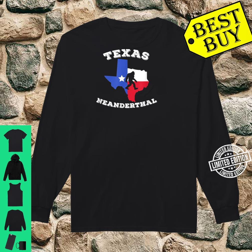 Texas Neanderthal Thinking Texan Political Shirt long sleeved